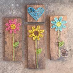 String Art Flower Nursery Decor Gifts For Her by GibbensGarage