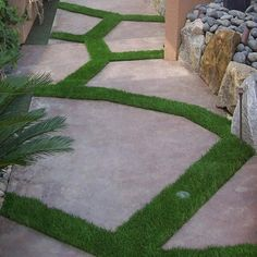 Consider artificial grass in small areas...low maintenance & easy of the earth! Go Green Synthetic Grass Turf Lawn Sized 3.75'x9'Green Blades with Thatch #WalmartGreen