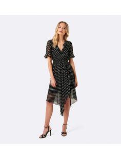 ForeverNew Dianne Spot Wrap Dress Main Image