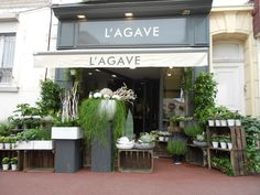 L'Agave which is a florist shop in Wimereux, Boulogne.