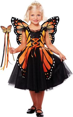 Royal Princess of Butterflies Monarch Butterfly Halloween Costume Toddler Girls #CaliforniaCostumeCollection #CompleteCostume