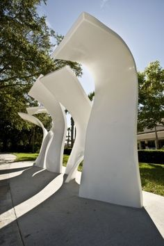 sculptural Bus Stops: