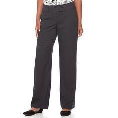 Women's Apt. 9® Curvy Dress Pants, Size: 16 Short, Black