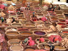 aardse kleuren verfbad marrakech
