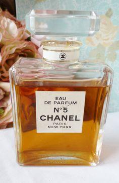 Chanel 5 Paris France Perfume Bottle Vintage Cut by vintagelady7,