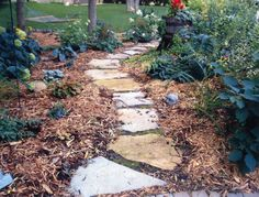 find this pin and more on home ideas inspiration flagstone stepper walkway