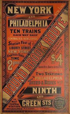 The Railroad Revival Tour Historical Revival / Vernacular Vintage Type, Vintage Signs, Vintage Prints, Vintage Posters, Typography Love, Vintage Typography, Typography Letters, Lettering, Train Posters