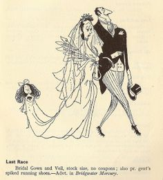 """Last Race - cartoon illustration by Ronald Searle in """"This England, 1946"""" by mikeyashworth, via Flickr"""