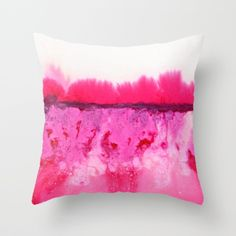Melted Throw Pillow by georgianaparaschiv Scatter Cushions, Throw Pillows, Pink Dip Dye, Pink Furniture, Barbie Dream House, Pink Walls, Awesome Bedrooms, Pillow Talk, Decor Styles