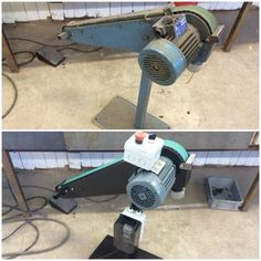 Restoring an old sander. Before and after pic.