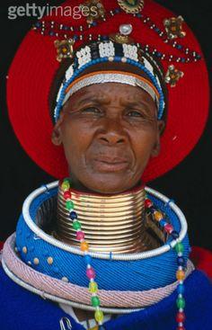 Ndebele woman at Mabhoko Village, KwaZulu Natal, South Africa