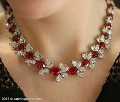 """987 Likes, 19 Comments - KATERINA PEREZ/КАТЕРИНА ПЕРЕЗ (@katerina_perez) on Instagram: """"#FaiDee #Butterfly #necklace with rare unheated 'pigeon blood' Burmese #rubies and #diamonds…"""""""