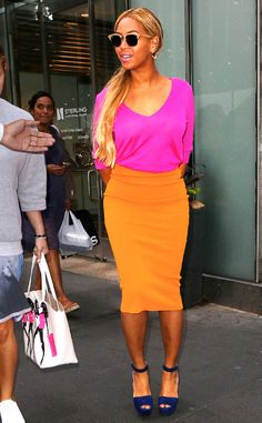 Bright and beautiful! Would love to recreate this look! Beyoncé from The Big Picture: Today's Hot Pics | E! Online