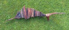 Driftwood Fish..Striped Marlin..natural object art..Waiitiboy.. Punakaiki. 1700x500.