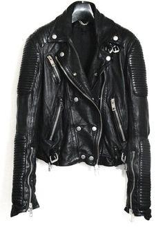 Black leather jackets: