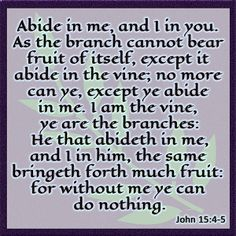 Abide In Me - Free Scripture Graphic John 15:4-5 - TrulyTruly.net