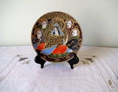 Antique Nagoya China Display Plate Moriage by VintageByDollymae