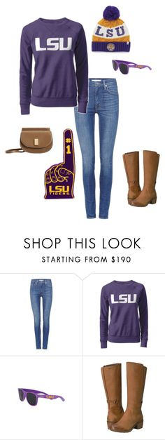 """Gameday Style at LSU"" by bncollege on Polyvore featuring Levi's, Teva and MANGO"