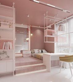 Luxury Kids Bedroom, Small Room Design Bedroom, Kids Bedroom Designs, Bedroom Decor For Teen Girls, Stylish Bedroom, Room Ideas Bedroom, Home Room Design, Elegant Girls Bedroom, Study Room Decor