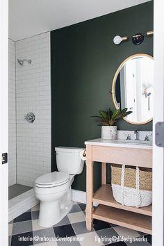 Bathroom Wall Colors, Bathroom Wall Lights, Bathroom Plants, Bathroom Mirrors, Green Bathroom Paint, Painting Bathroom Walls, Lavender Bathroom, Bathroom Accent Wall, Cream Bathroom