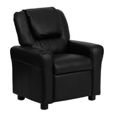 Flash Furniture Contemporary Brown Leather Kids Recliner with Cup Holder and Headrest at Lowe's. Don't forget about the kiddos, fur babies included, when looking for lounge seating for the little one in your home. Young kids will enjoy the comfort Kids Playroom Furniture, Children Furniture, Kids Rooms, Design Living Room, Kids Bookcase, Lounge Seating, Kids Seating, Leather Recliner, Design Furniture