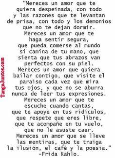 Te Amo.  Frida Kahlo TangoJuntos.com