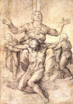 Dibujo - Escultura de la Piedad, Miguel Angel Bounarotti