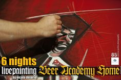 Live painting by nicola delarte at BEER ACADEMY HOME Vironas - Athens