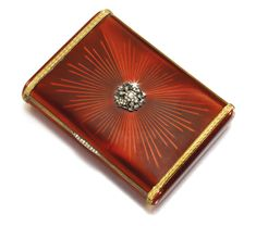 An Imperial Presentation Fabergé jewelled gold and enamel cigarette case, workmaster August Hollming, St Petersburg, 1899-1908 | lot | Sotheby's