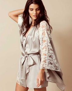Agent Provocateur - Nayeli Kimono Ivory And Silver - Lyst 46af0d63c