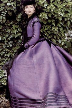 Romy Schneider as the Empress Elizabeth of Austria in Ludwig by Luchino Visconti (1972) - WAUW what a Fantastic Dress.