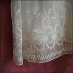 Fabulous Antique French Christening Gown Embroidered Lace - White Victorian - Baby Vintage Dress White embroideries from France