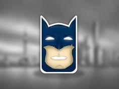 "Batman #4  ""Angry emoji""  Hello people!  #art #batman #bright #character #comics #dccomics #emoji #graphic #design #illustration #sketch #sticker #stickers #dc #angry #angryemoji #photoshop #abobe #adobephotoshop #graphic #graphicdesign #dark #mask #facemask #eye #eyes #gotham #tymchuk #art_tymchuk"
