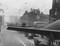 P-51 Mustangs line Upper Parliment Street in 1944, just prior to D-Day.