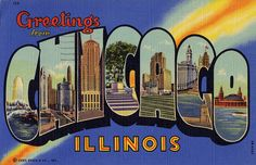 Greetings from Chicago, Illinois - Large Letter Postcard by Shook Photos, via Flickr