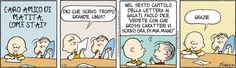 Charlie Brown and Linus - Letter-writing (Italian)
