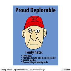 Funny Proud Deplorable Political Cartoon Postcard