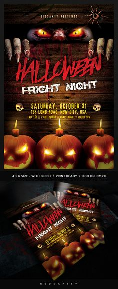 Halloween Party Invitation / Flyer Template PSD Download here - Invitation Flyer Template