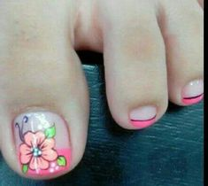 Uñas Toenail Art Designs, Pedicure Designs, Toe Nail Designs, Nail Polish Designs, French Pedicure, Pedicure Nail Art, Toe Nail Art, Gorgeous Nails, Fabulous Nails