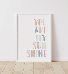 You Are My Sunshine Print Girl Nursery Decor PRINTABLE Wall | Etsy Nursery Paintings, Nursery Prints, Nursery Wall Art, Girl Paintings, Paintings For Kids Room, Nursery Ideas, Girl Nursery Decor, Girls Room Wall Decor, Baby Room Wall Decor
