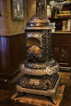 Potbelly stove at Market House at Disneyland Park