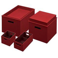 $60 - Rubbermaid Bento 6-pc. Storage Box & Dividers Set Paprika Color