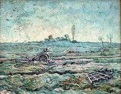 Vincent van Gogh -  The Plough and the Harrow (after Millet), 1890