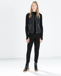 Image 1 of PADDED VEST WITH CONTRAST EDGING from Zara
