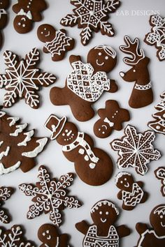 Making gingerbread dough this morning. Here's some of our decorated cookies from last year. Icing For Gingerbread Cookies, Gingerbread Dough, Gingerbread Decorations, Christmas Gingerbread, Cute Christmas Cookies, Xmas Cookies, Christmas Sweets, Christmas Baking, Holiday Baking