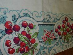 vintage cherries tablecloth