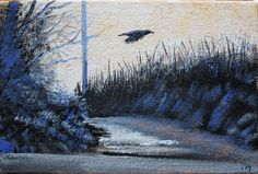 Buy Raven on the Ridgeway - Day 208/365 Postcards from Pembrokeshire, Oil painting by Guy Manning on Artfinder. Discover thousands of other original paintings, prints, sculptures and photography from independent artists.