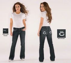 Touch by Alyssa Milano Chicago Bears Bootcut Jeans