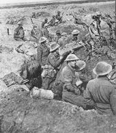 Australian soldiers at the Battle of Polygon Wood.