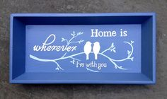 SOLD but can be made to order  Home Is by BelleMaisonMarket